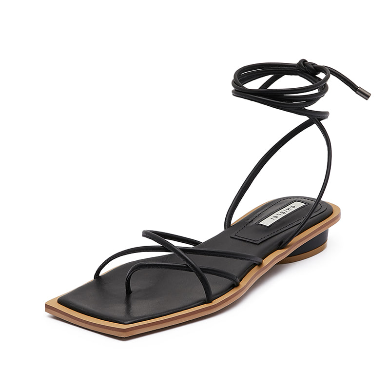 DOUBLE CROSS SANDAL [ C0S02 BK ]
